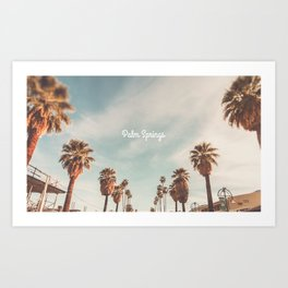 The Strand Palm Springs, California Art Print