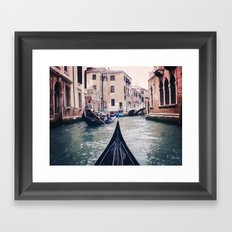 Venice by Gondola Framed Art Print