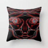 weird Throw Pillows featuring Weird by Sean McDaniel
