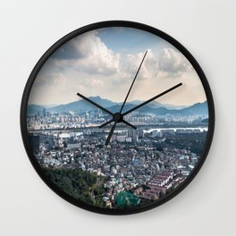 Seoul from Namsan Mountain Wall Clock