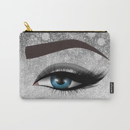 Glam diamond lashes eye #1 Carry-All Pouch