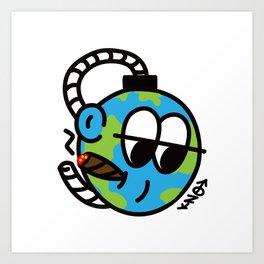 EARTH SELF DESTRUCT Art Print