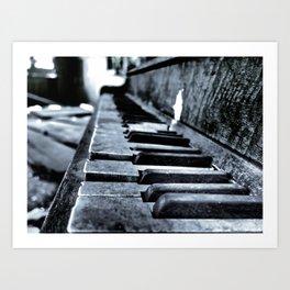 Forgotten Piano Art Print