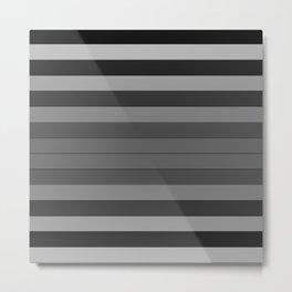Black and Gray Stripes Metal Print