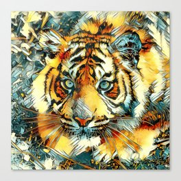 AnimalArt_Tiger_20170607_by_JAMColorsSpecial Canvas Print