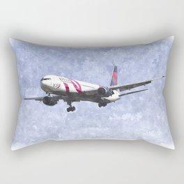 Delta Airlines Boeing 767 Art Rectangular Pillow