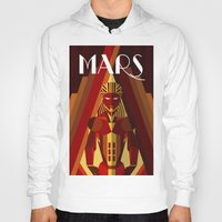 mars Hoodies featuring Mars by Emanuel Afonso