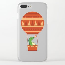 Dragon On Hot Air Balloon Clear iPhone Case