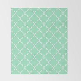 Quatrefoil - Mint Throw Blanket