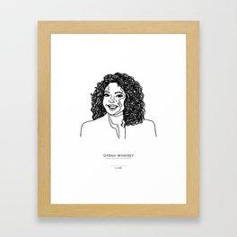Oprah Winfrey Framed Art Print