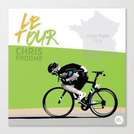 Le Tour + Froome Canvas Print