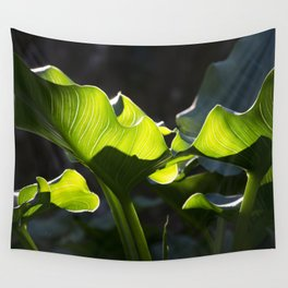 Green Contrast - Light and Dark Wall Tapestry