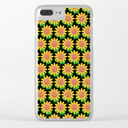 Sunflower Pattern_C Clear iPhone Case