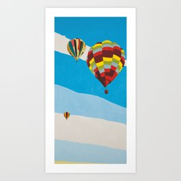 Three Hot Air Balloons Art Print