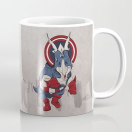 Captain Ameritops - Superhero Dinosaurs Series Coffee Mug