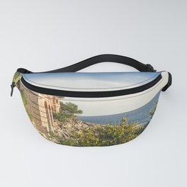 Seacoast of Cap Martin in a sunny winter day Fanny Pack