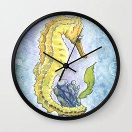Seahorse Dreams Wall Clock