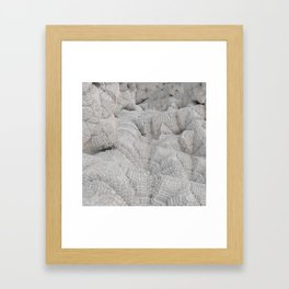 Pixel Snow Framed Art Print