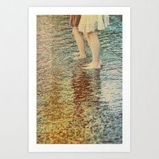 shallow waters Art Print