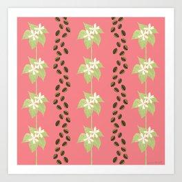 Coffee Bean Dreams (in Pink) Art Print