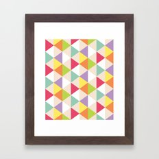 Love Triangle Framed Art Print