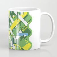 brazil Mugs featuring Brazil by Roberlan Borges