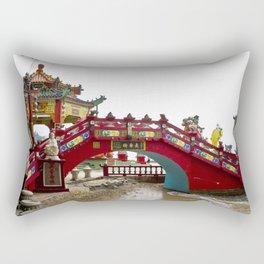 Beautiful Red Temple to Water Goddess in Hong Kong Rectangular Pillow