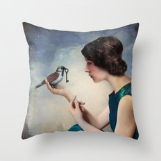 The Key to Wonderland Throw Pillow