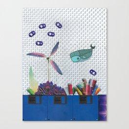 Skipping School Canvas Print