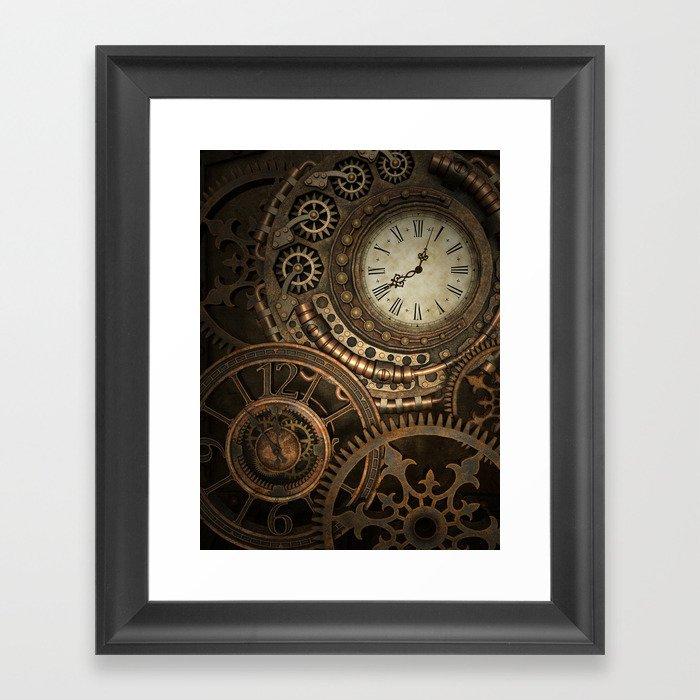 Steampunk Clockwork Gerahmter Kunstdruck