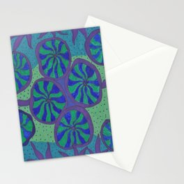 Blue Ocean Groove Stationery Cards