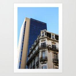 Architectural contrast II Art Print