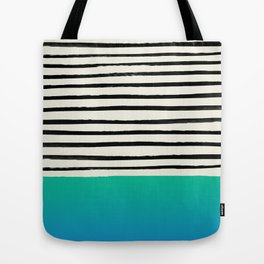 Mermaid & Stripes Tote Bag