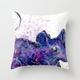 Space Mouse Throw Pillow