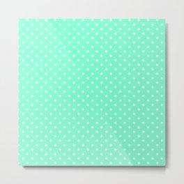 Dots (White/Aquamarine) Metal Print