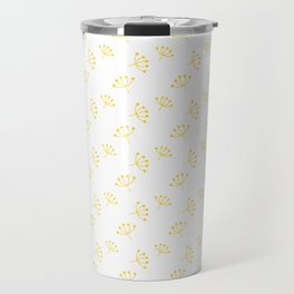 Yellow Queen Anne's Lace pattern Travel Mug