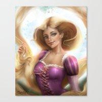 rapunzel Canvas Prints featuring Rapunzel by ChrySsV