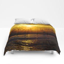 Misty Sunrise * Huntington Beach, California Comforters