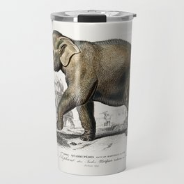 Asiatic elephant (Elephas maximus) indicus illustrated by Charles Dessalines D' Orbigny (1806-1876) Travel Mug
