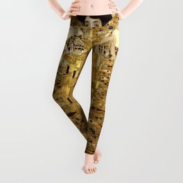 Woman in Gold Portrait by Gustav Klimt Leggings