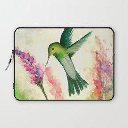 Hummingbird & Lupine watercolor Laptop Sleeve