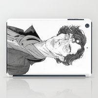 benedict cumberbatch iPad Cases featuring Benedict Cumberbatch - Sherlock by Andy Christofi