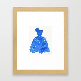 A Pretty Blue Dress Framed Art Print