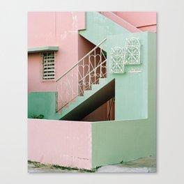 iron hearts and pastel concrete Canvas Print