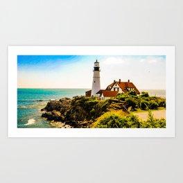 Portland Maine Lighthouse Art Print