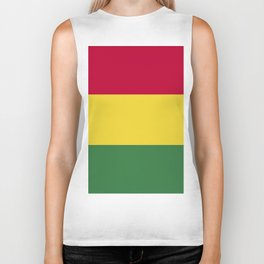 Bolivia flag emblem Biker Tank