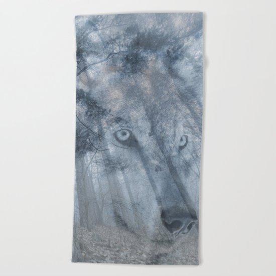 Wolf Spirit  Beach Towel
