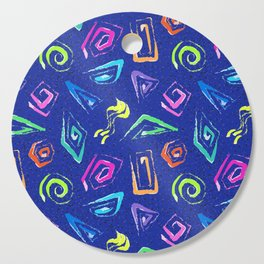 Surf Spiral Shapes in Neon Periwinkle Cutting Board