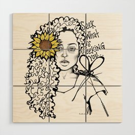 #STUKGIRL QUEEN Wood Wall Art