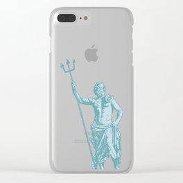 Poseidon OCEAN BREEZE / All hail the god of the sea Clear iPhone Case